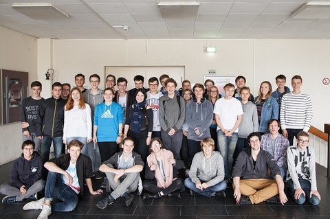 Gruppenbild vom Schnupperstudium 2017
